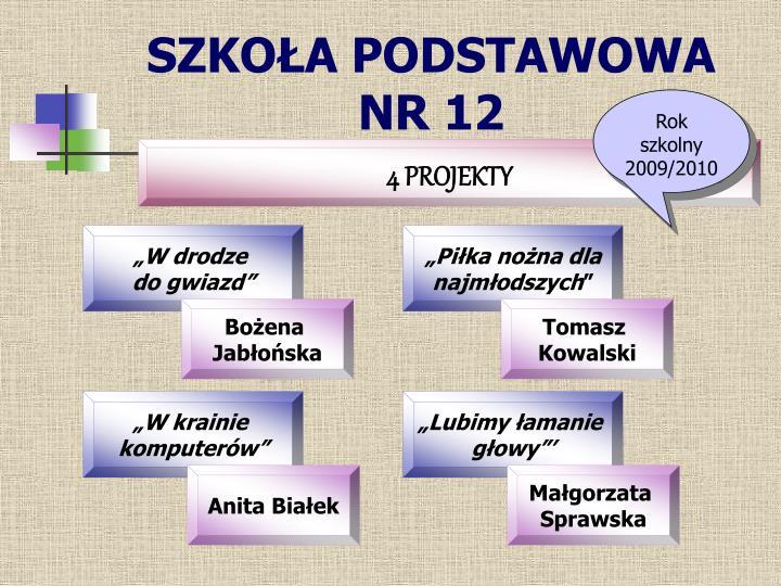 SZKOŁA PODSTAWOWA NR 12