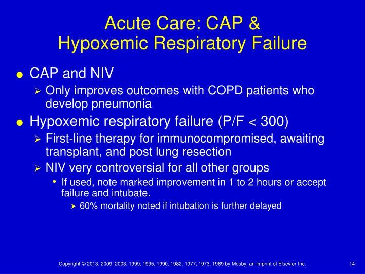 Acute Care: CAP &
