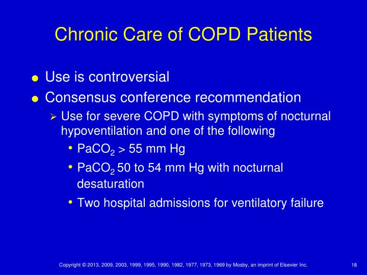 Chronic Care of COPD Patients