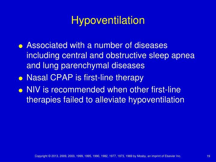 Hypoventilation