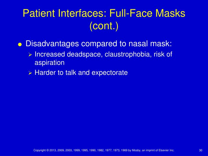 Patient Interfaces: Full-Face Masks (cont.)