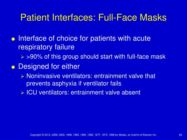 Patient Interfaces: Full-Face Masks