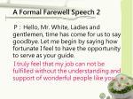 a formal farewell speech 2