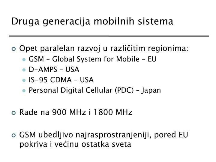 Druga generacija mobilnih sistema