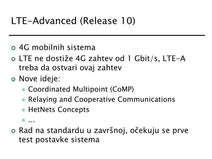LTE-Advanced (Release 10)