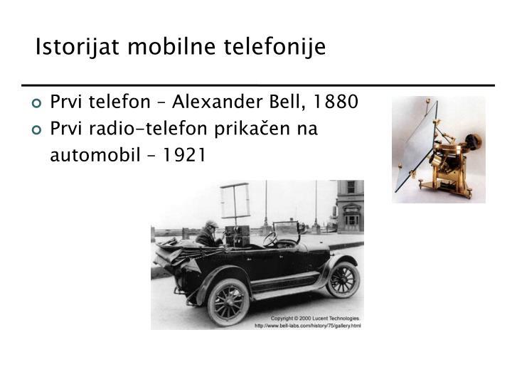 Istorijat mobilne telefonije