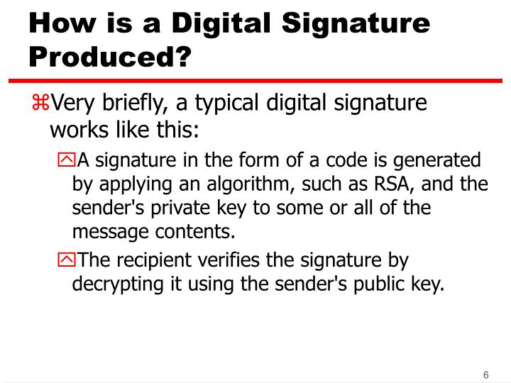 How is a Digital Signature Produced?