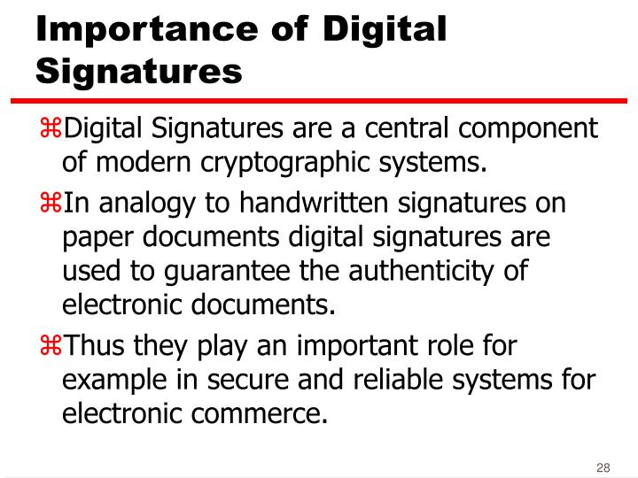 Importance of Digital Signatures