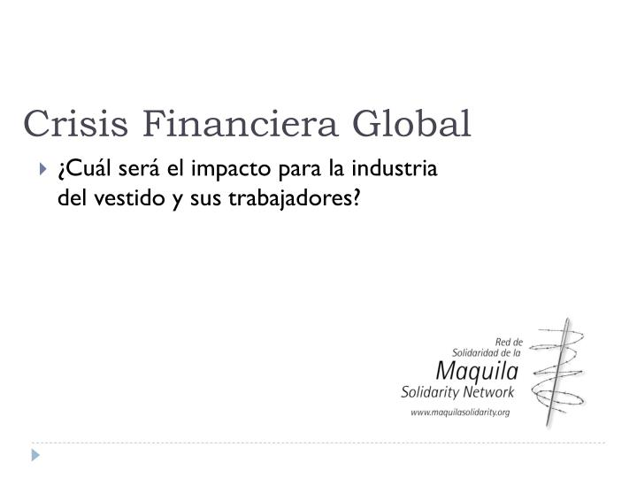 crisis financiera global