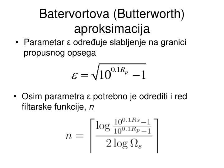 Batervortova (Butterworth) aproksimacija
