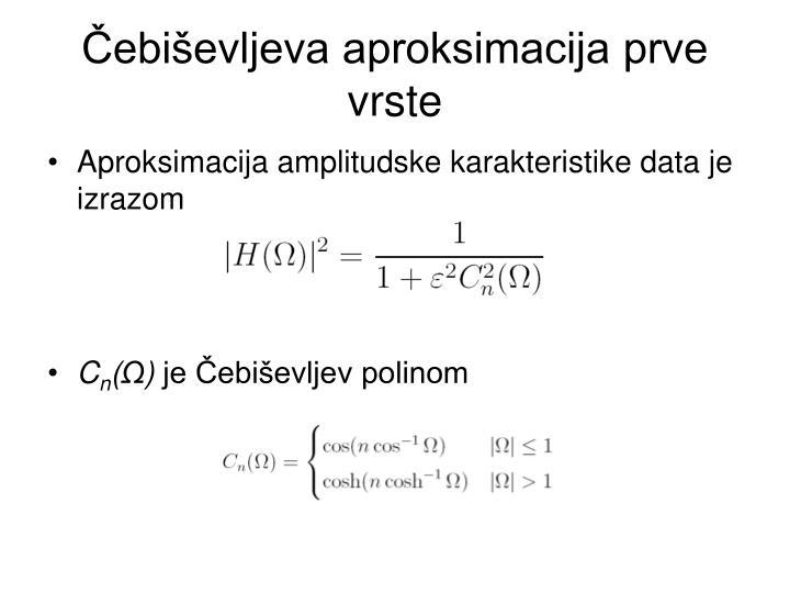 Čebiševljeva aproksimacija prve vrste