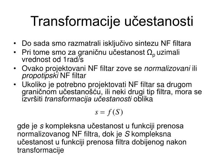 Transformacije učestanosti