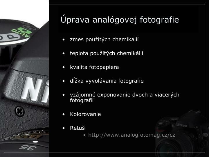 Úprava analógovej fotografie