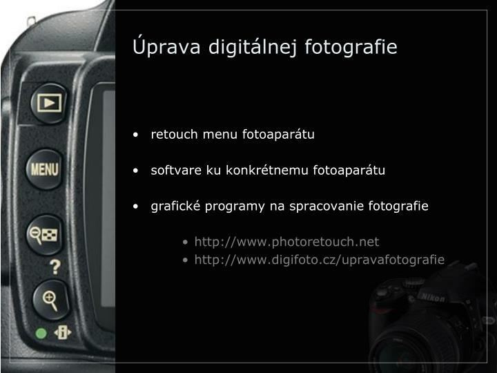 Úprava digitálnej fotografie