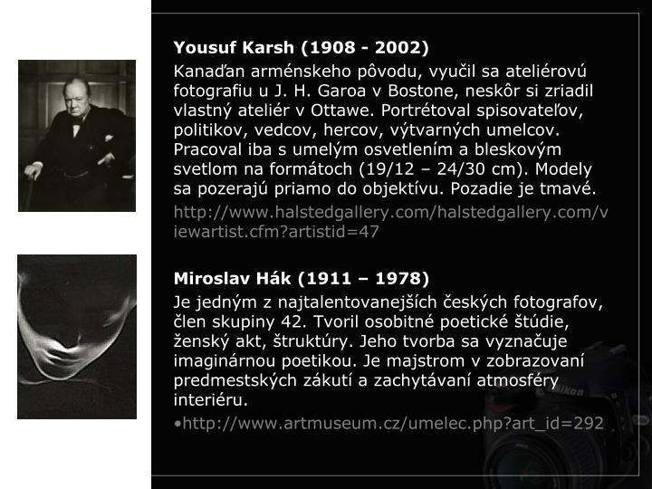 Yousuf Karsh (1908 - 2002)