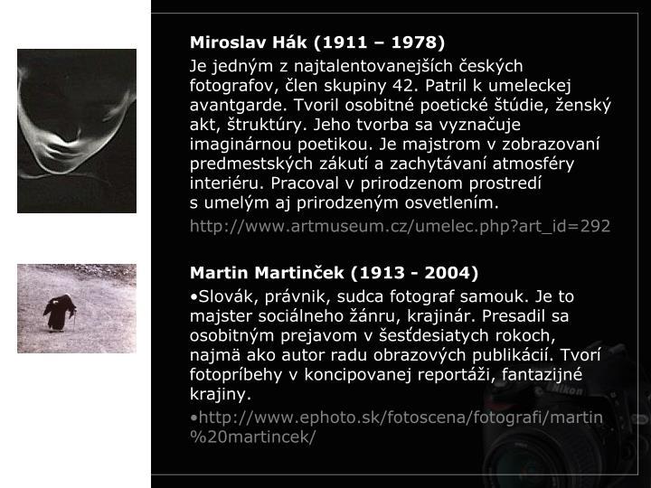 Miroslav Hák (1911 – 1978)