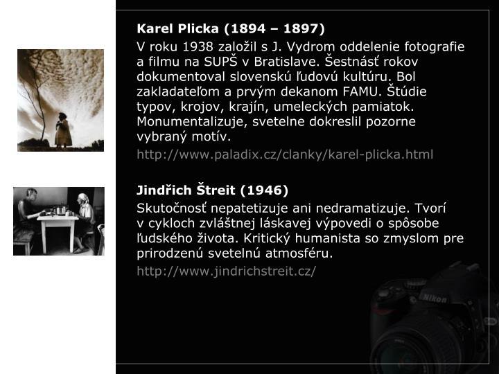 Karel Plicka (1894 – 1897)