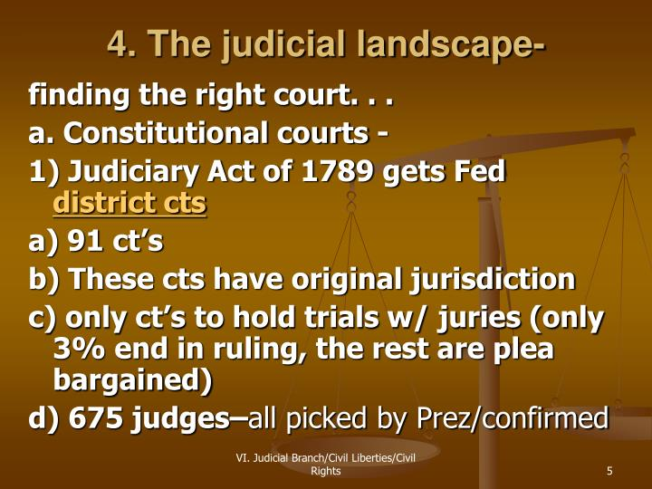 4. The judicial landscape-