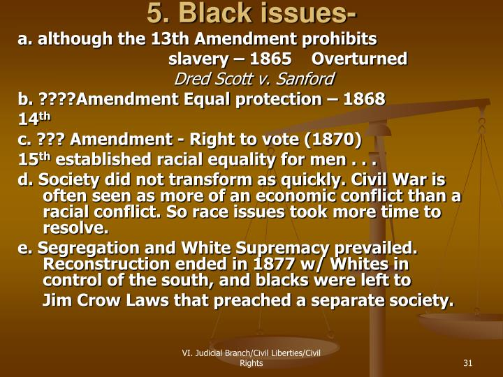 5. Black issues-