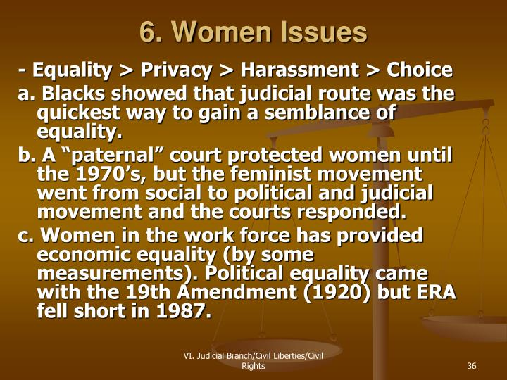 6. Women Issues