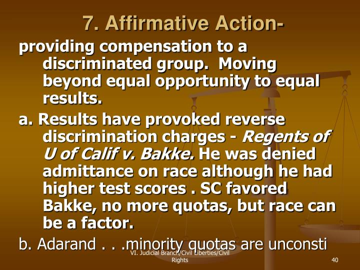 7. Affirmative Action-