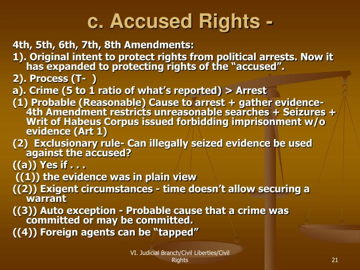 c. Accused Rights -