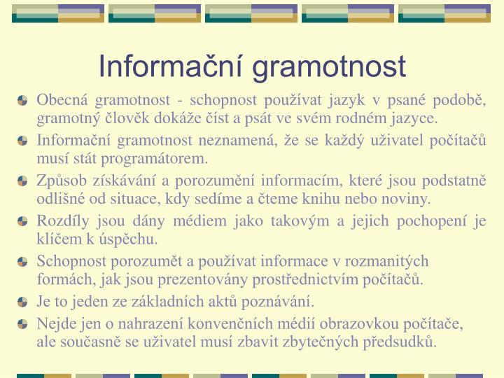 Informační gramotnost