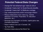 potential federal state changes