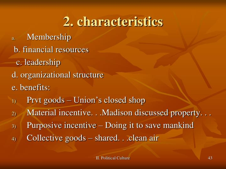 2. characteristics