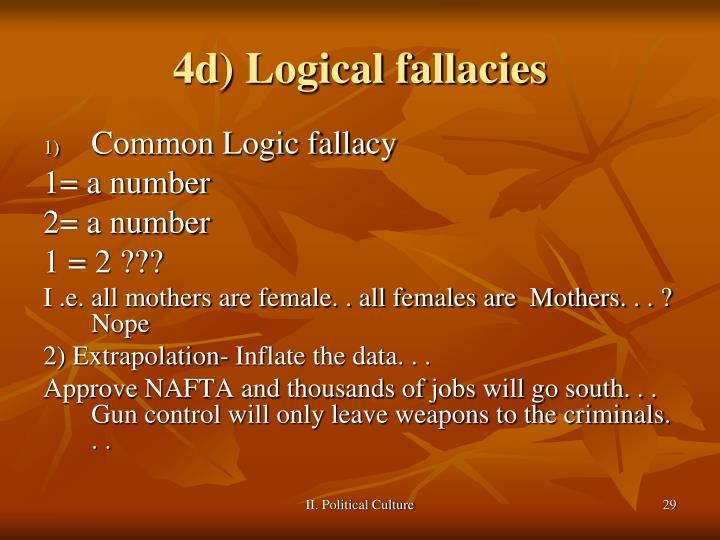 4d) Logical fallacies