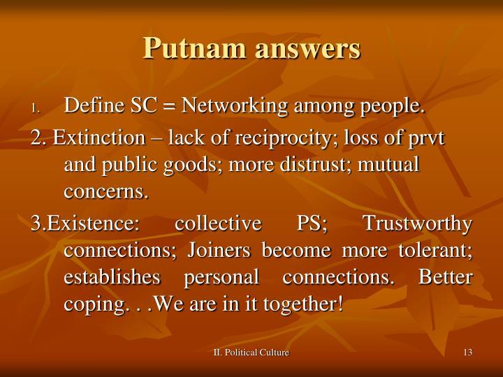 Putnam answers