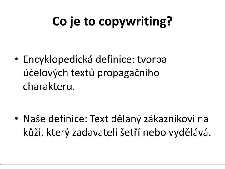 Co je to copywriting?