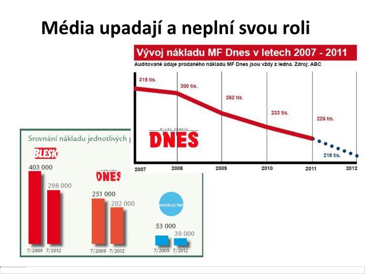 Média upadají a neplní svou roli