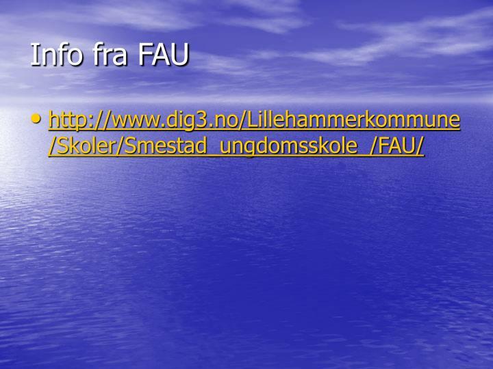 Info fra FAU