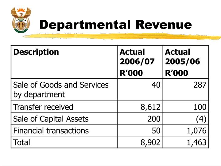 Departmental Revenue