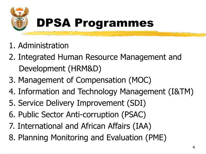 DPSA Programmes