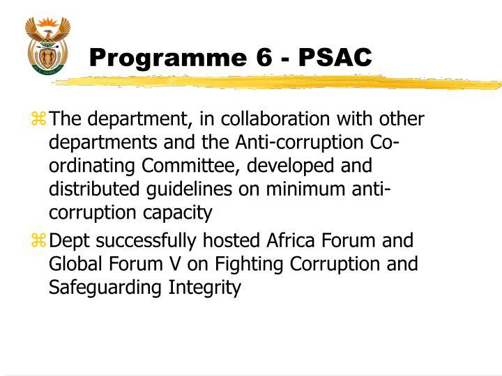 Programme 6 - PSAC