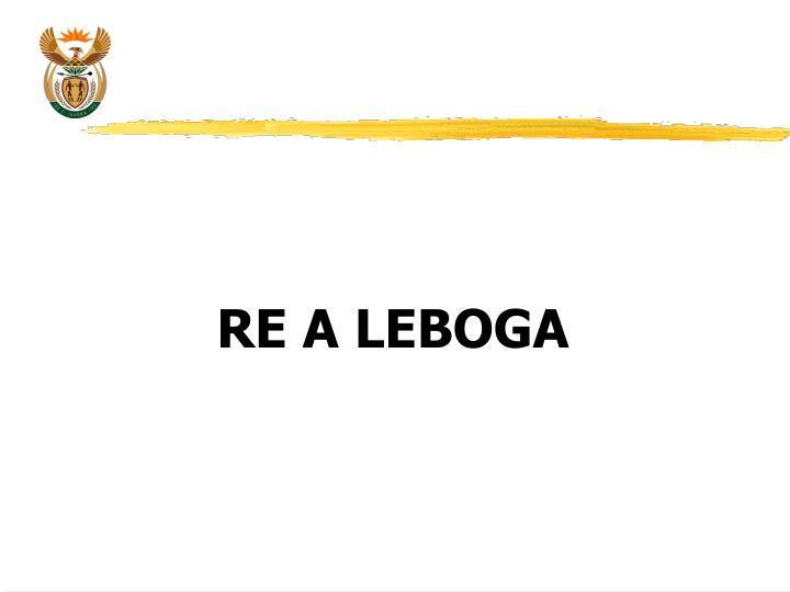 RE A LEBOGA
