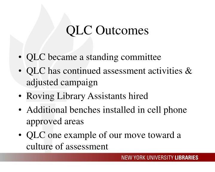 QLC Outcomes