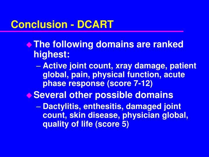 Conclusion - DCART