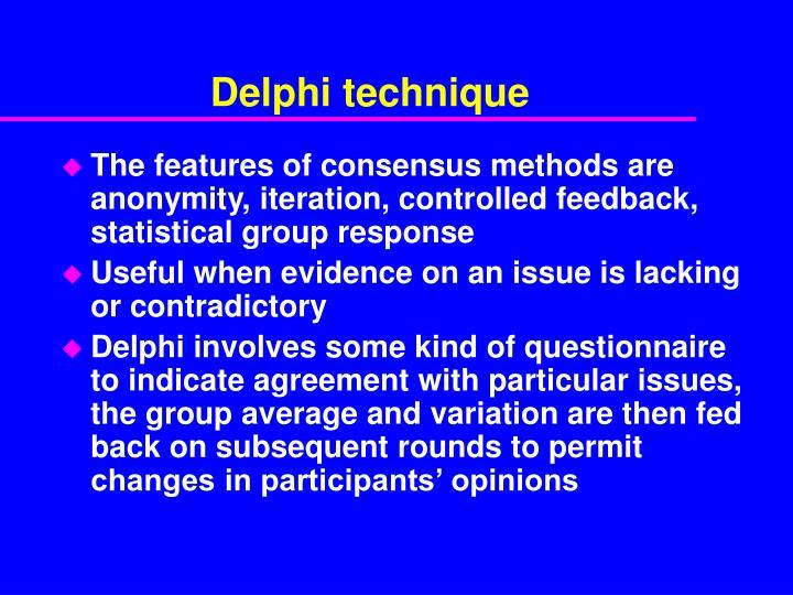 Delphi technique