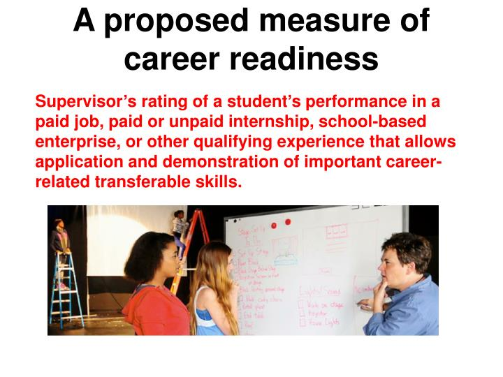 A proposed measure of career readiness