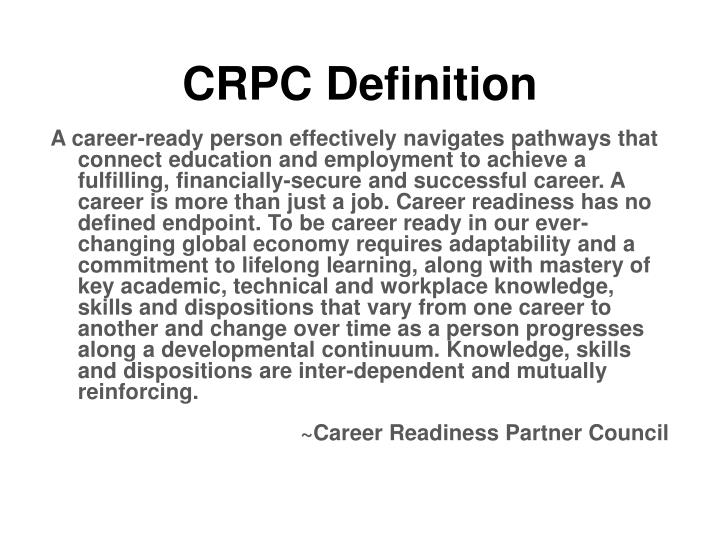 CRPC Definition
