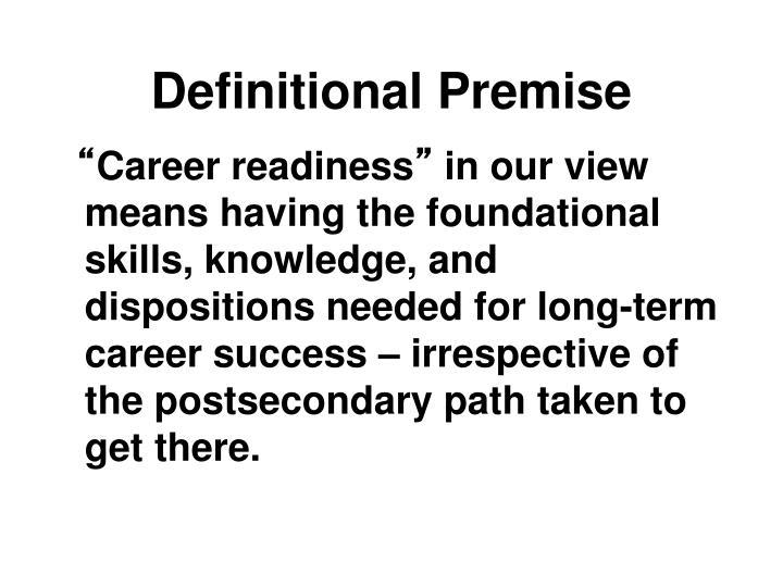 Definitional Premise
