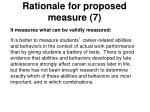 rationale for proposed measure 7