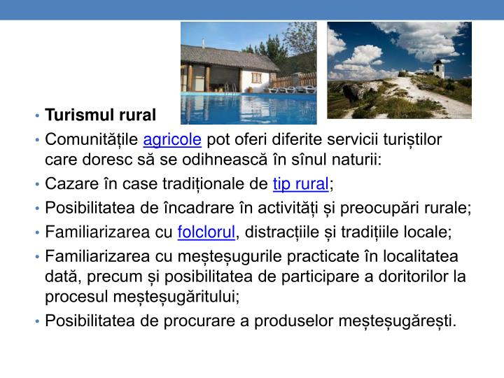 Turismul rural