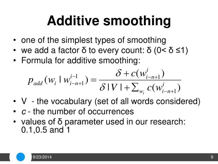 Additive smoothing