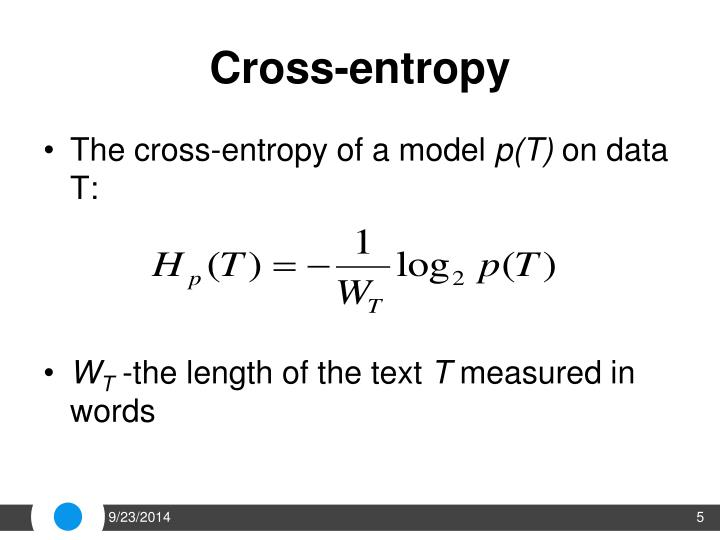 Cross-entropy