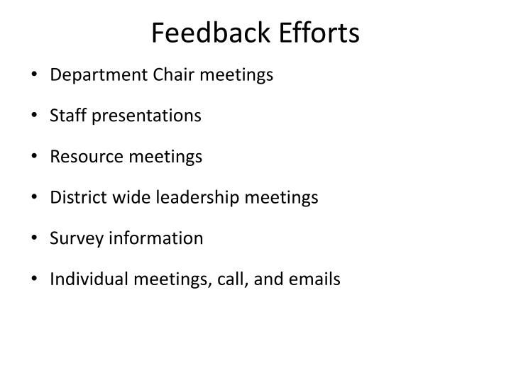 Feedback Efforts