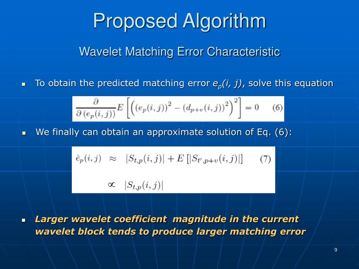 To obtain the predicted matching error
